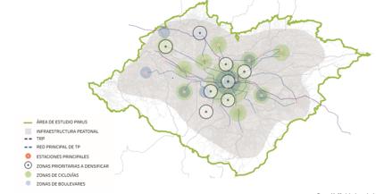 Mapa del área de estudio de PYMUS